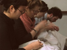 We stitch in prayer.